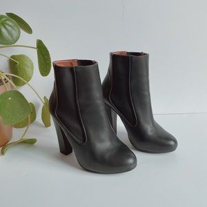 Zara Black Leather Booties
